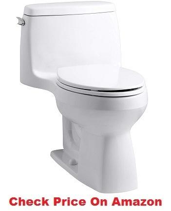 KOHLER 3810-0 Santa Rosa Comfort Height Elongated 1.28 GPF Toilet