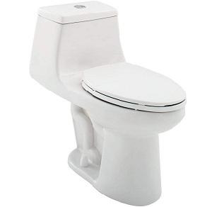 One piece High Efficiency Dual Flush Elongated Toilet